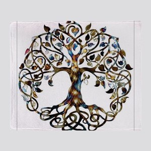 Brown_Tree_Of_Life Throw Blanket