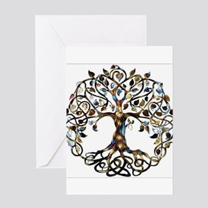 Brown_Tree_Of_Life Greeting Cards