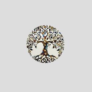 Brown_Tree_Of_Life Mini Button