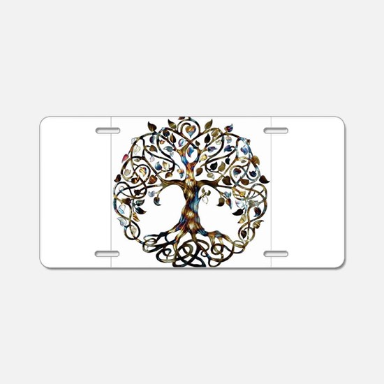 Brown_Tree_Of_Life Aluminum License Plate