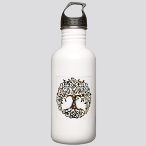 Brown_Tree_Of_Life Water Bottle
