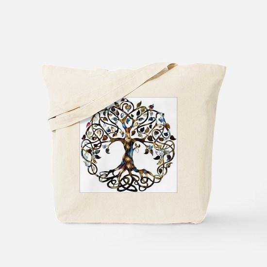 Brown_Tree_Of_Life Tote Bag