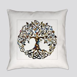 Brown_Tree_Of_Life Everyday Pillow