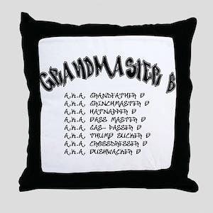 Grandmaster B Throw Pillow