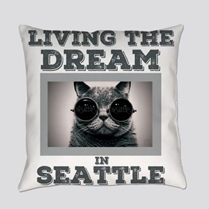 Living The Dream In Seattle Everyday Pillow