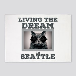 Living The Dream in Seattle 5'x7'Area Rug
