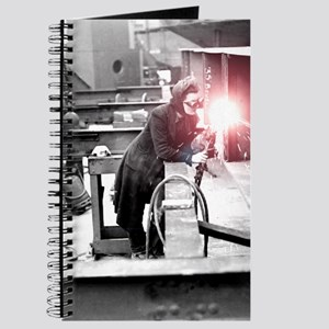 Vintage Female Worker with Oxy-Fuel Cutter Journal