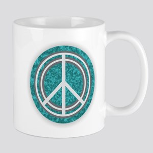 Turquoise Peace Sign Mugs