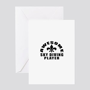 Awesome Sky diving Player Designs Greeting Card