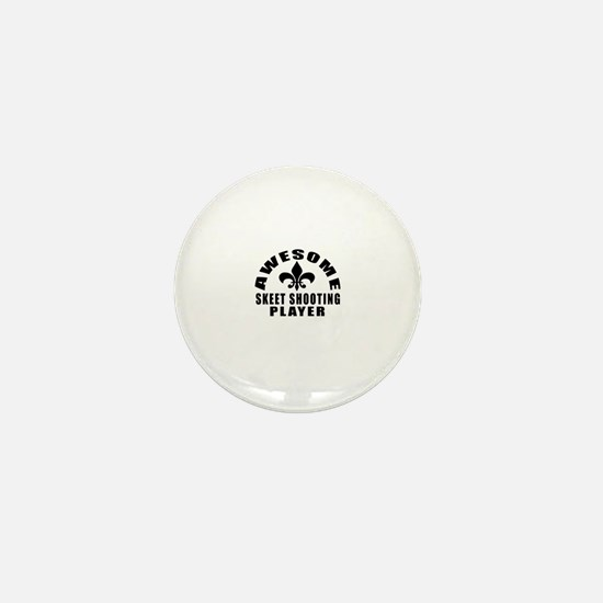 Awesome Skeet Shooting Player Designs Mini Button