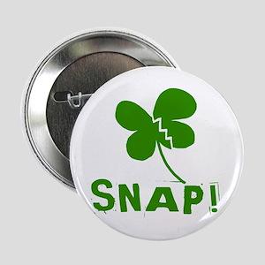 "Fractured Shamrock Snap! 2.25"" Button"