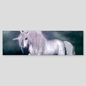 Wonderful unicorn on the beach Bumper Sticker