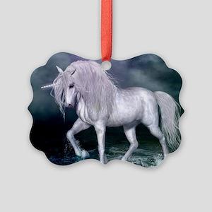 Wonderful unicorn on the beach Ornament