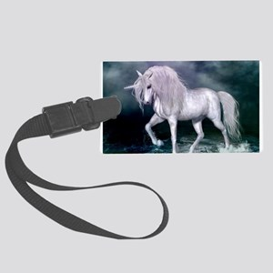 Wonderful unicorn on the beach Luggage Tag