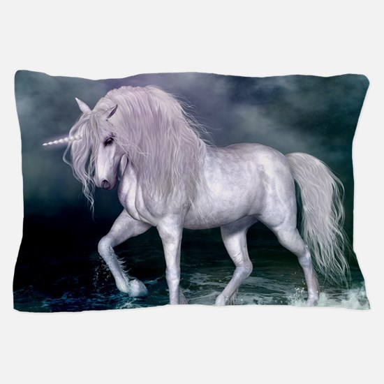 Wonderful unicorn on the beach Pillow Case