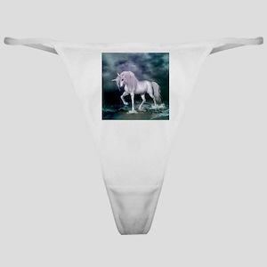 Wonderful unicorn on the beach Classic Thong