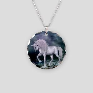 Wonderful unicorn on the beach Necklace