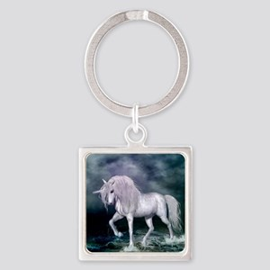 Wonderful unicorn on the beach Keychains
