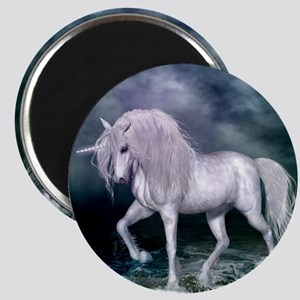 Wonderful unicorn on the beach Magnets