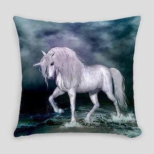 Wonderful unicorn on the beach Everyday Pillow
