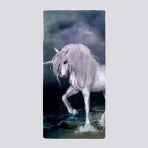 Wonderful unicorn on the beach Beach Towel