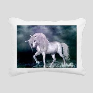 Wonderful unicorn on the beach Rectangular Canvas