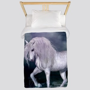 Wonderful unicorn on the beach Twin Duvet