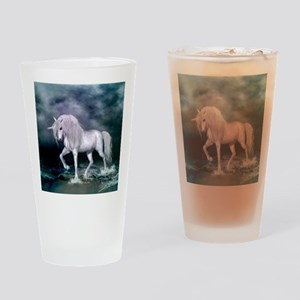 Wonderful unicorn on the beach Drinking Glass