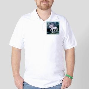 Wonderful unicorn on the beach Golf Shirt