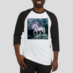 Wonderful unicorn on the beach Baseball Jersey