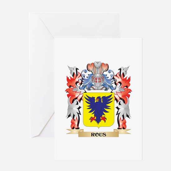 Rous Coat of Arms - Family Crest Greeting Cards