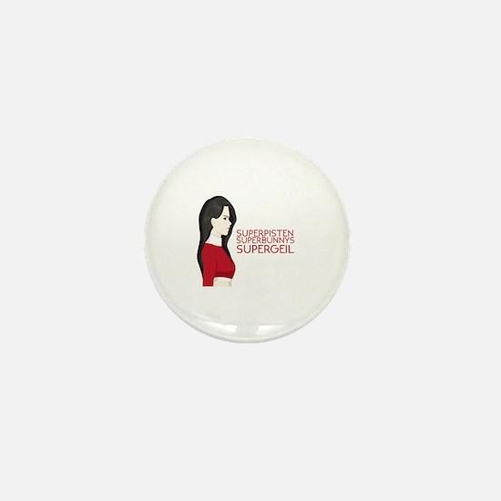 Cute Superbunny Mini Button