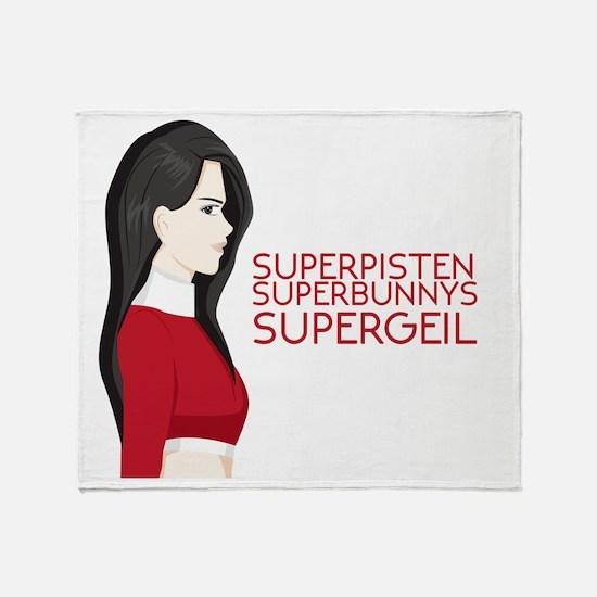 Cute Superbunny Throw Blanket