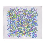Pastel Leaves (FF) Throw Blanket