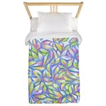 Pastel Leaves (FF) Twin Duvet