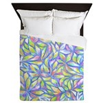 Pastel Leaves (FF) Queen Duvet