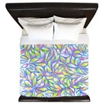 Pastel Leaves (FF) King Duvet