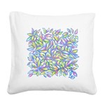 Pastel Leaves (FF) Square Canvas Pillow