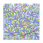 Pastel Leaves (FF) Tile Coaster