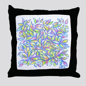 Pastel Leaves (FF) Throw Pillow