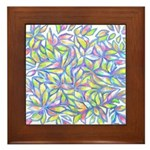 Pastel Leaves (FF) Framed Tile