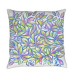 Pastel Leaves (FF) Everyday Pillow