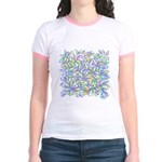 Pastel Leaves (FF) Jr. Ringer T-Shirt