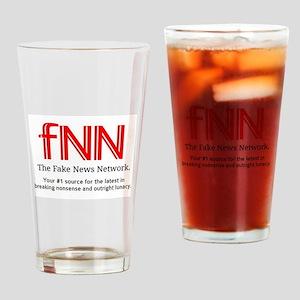 Fake News Drinking Glass