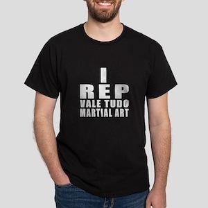 I Rep Vale Tudo Martial Arts Dark T-Shirt