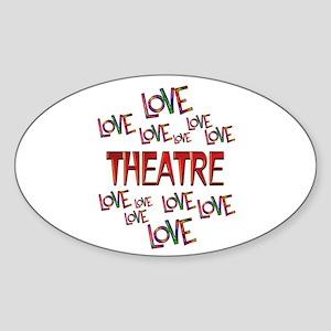 Love Love Theatre Sticker (Oval)