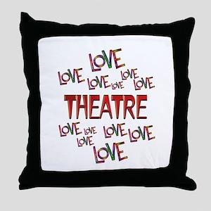 Love Love Theatre Throw Pillow