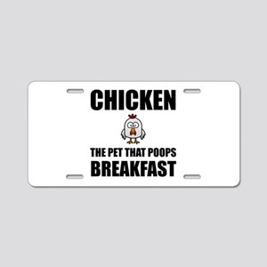 Chickens Poop Breakfast Aluminum License Plate