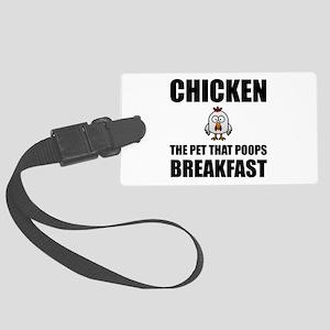 Chickens Poop Breakfast Luggage Tag
