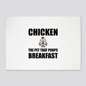 Chickens Poop Breakfast 5'x7'Area Rug